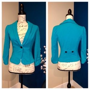 Candies cotton turquoise blazer